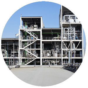 Polyamide polimerization plant at NUREL Zaragoza, Spain, Europe